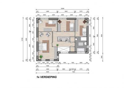 Model Dublin 1e verdieping
