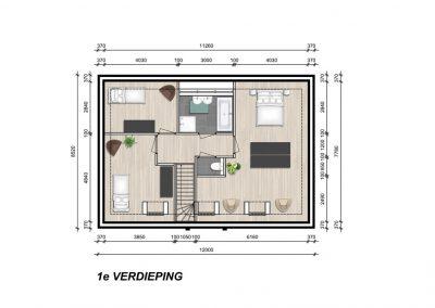 Model Oslo eerste verdieping